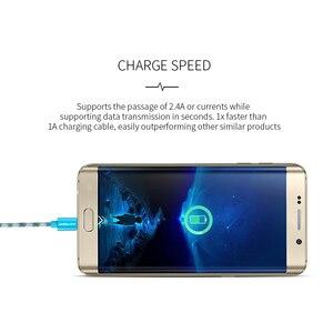 Image 5 - KEYSION Micro USB Kabel 2,4 EINE Nylon Schnelle Ladung USB Daten Kabel für Samsung Xiaomi Tablet Android Handy USB ladekabel