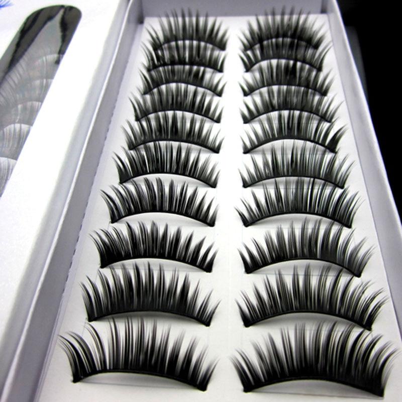 New 30pairs/Lot Fahion Thick False Eyelash Extension Tools Long Eyelash Natural False Eye Lashes Voluminous Maquiagem Makeup