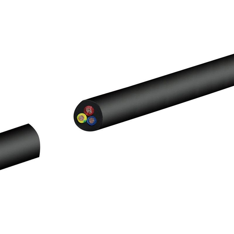 28 AWG RVV 2/3/4/5/6/8 ядер медный провод проводник Электрический RVV КАБЕЛЬ черный мягкий обшитый провод