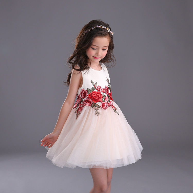 Lace Flower Girl Dresses Appliques Kids Prom Wedding Dress Ball Gown Pearls Girl Pageant Dress Vestidos baby girls clothing 3-10 2017 new flower lace girls dress princess dresses solid wedding dress girl clothing sleeveless ball gown girl costume kids ds003