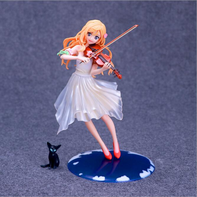 23cm Your Lie In April Kaori Miyazono Violin Action Figure Anime Doll Pvc New Collection Figures Toys Brinquedos Collection Soft And Antislippery Toys & Hobbies