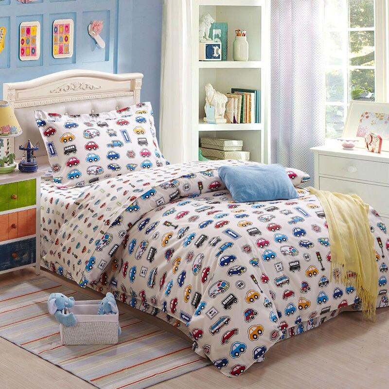 Cartoons Bedroom Sets For Teenagers : bedding set 3pcs printed cars kids cartoon 100%cotton duvet cover set ...