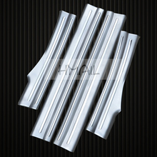 4PCS stainless steel inner door sill strip for KUGA FORD 2013-17 built-in welcome pedal Scuff Plate body protect Threshold Trim inside door sill scuff plate welcome pedal stainless steel for toyota rav4 2013 2017 4pcs