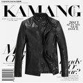 Envío gratis Motorcycle Leather Jack ropa de piel de oveja genuina ropa de cuero hombres chaqueta S-XXXL