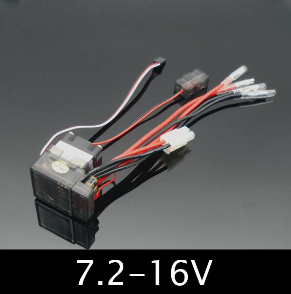 цена 320A Waterproof RC Boat ESC Eletric Speed Controller for RC Crawler Car/Boat Regulator Spare Parts 7.2-16V with Fan Two Motors