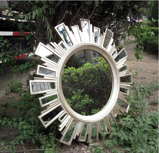 European style retro resin mirror