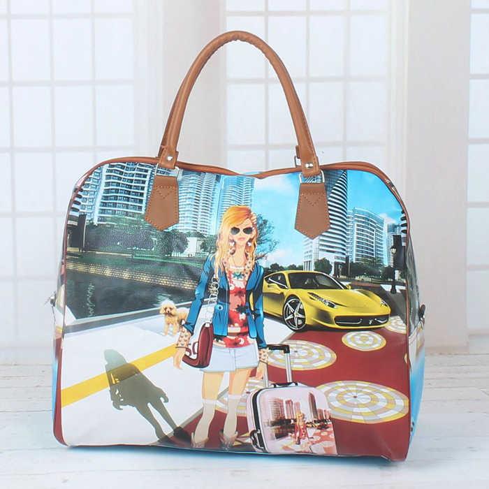 ... 2018 Hot Sale Famous Brands Women s Cartoon Bag Women Luggage Travel  Bags Large Bag For Women ... fa57644411412
