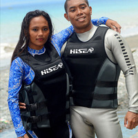 Hisea Neoprene Life Vest Swimming Jacket Water Sport Kayak Survival Jacket For Adults Swimsuit Fishing Boating Puddle Jumper