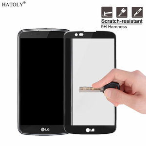 Image 2 - 1PCS Tempered Glass For LG K8 Screen Protector for LG K8 Full Cover for LG K8 Lte K350 K350E K350N 4G 3D Curved Edge Film HATOLY