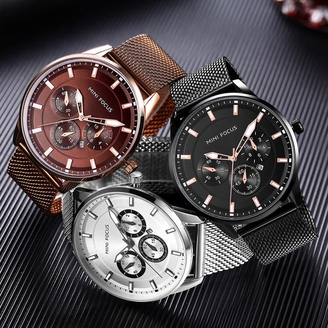 NEW Fashion Luxury Brand Whatch Men Waches Silver Watches Men's Quartz Clock Man Full Steel Sports Wrist Watch Relogio Masculino