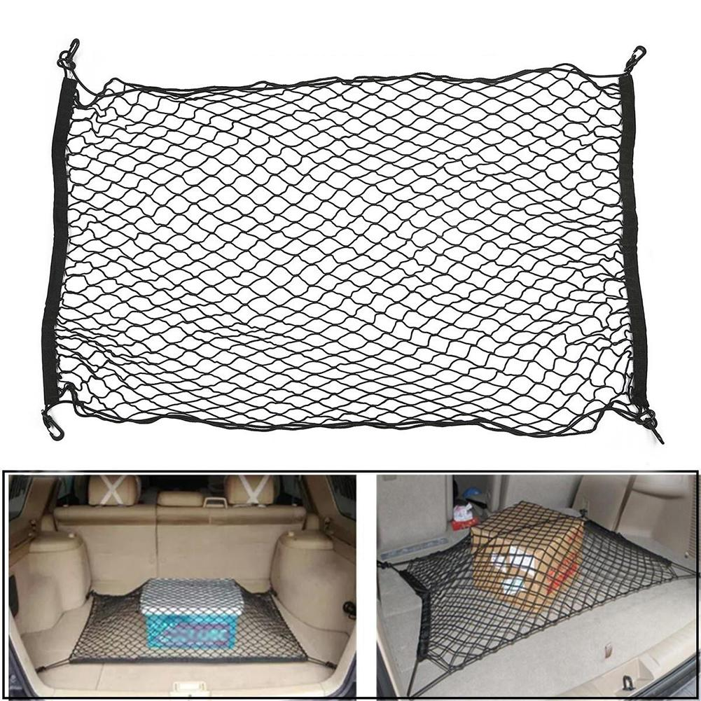 Auto Care 100cm x 70cm Universal Auto Car Trunk Rear Cargo Organizer Elastic Mesh Net Storage Holder With 4 hooksAuto Care 100cm x 70cm Universal Auto Car Trunk Rear Cargo Organizer Elastic Mesh Net Storage Holder With 4 hooks
