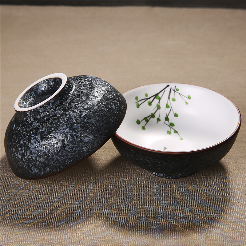Zen Japanese Style White Porcelain Teacup Kung Fu Tea Set Healthy Black Tea Bowl Puer Tea