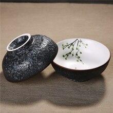 Zen Japanischen Stil Weißen Porzellan Teetasse Kung Fu Tee-Set Gesunde schwarz Tee Schüssel Puer Tee Master Tasse Tee Tasse Kreative Heimat Decor