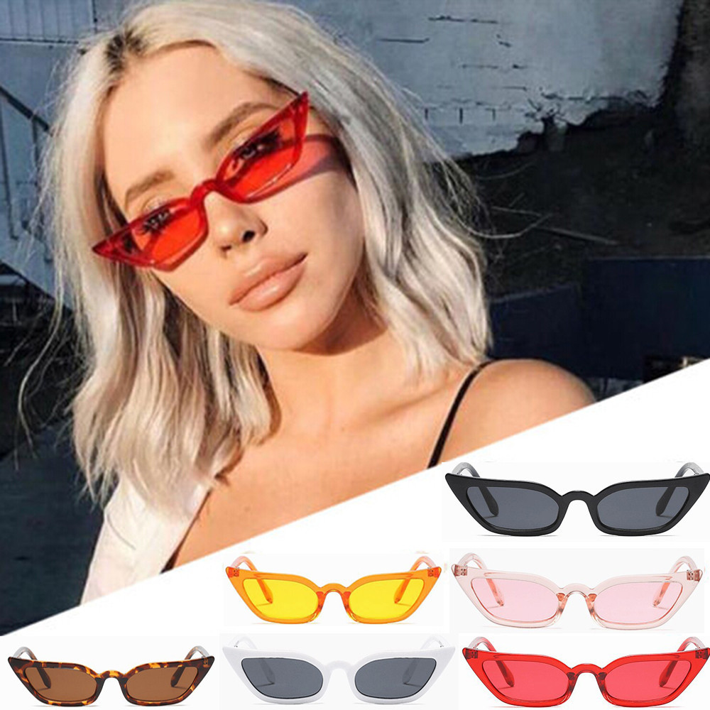 Women Vintage Cat Eye Sunglasses Retro Small Frame UV400 Eyewear Fashion Ladies FORUU Glasses
