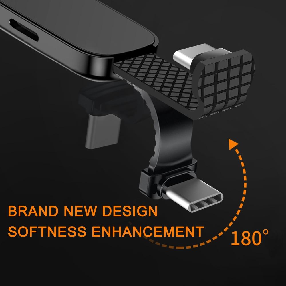 5X USB C до 3,5 мм аудио зарядное устройство Регулировка держатель телефона OTG двойные адаптеры и кольцевой держатель быстрая зарядка для смартфона type C Android - 3