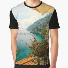 f80197bd All Over Print 3D Tshirt Men Funny T Shirt Relaxing in Positano Graphic T- Shirt