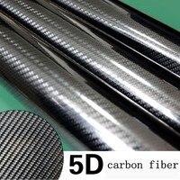 76 450CM Glossy 4D 5D 6D Black Carbon Fiber DIY Car Wrap Bubble Free Air Release
