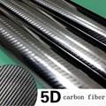 "76*450CM Glossy 4D 5D 6D Black Carbon Fiber DIY Car Wrap Bubble Free Air Release Sheet Roll Film Sticker Vinyl Decal 30""*180"""