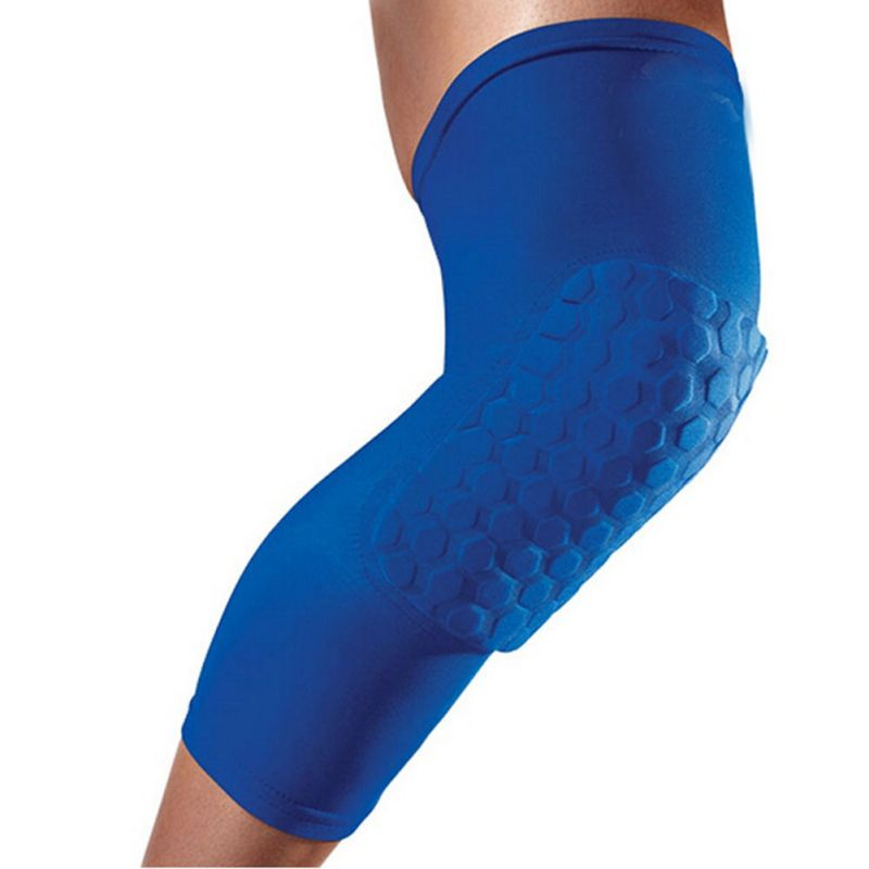 Men Sports Knee Pads Breathable Honeycomb Long Knee Support Pad Basketball Leg Sleeve Protector цена