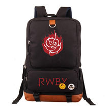 RWBY Crescent Rose Backpack Printing Knapsack Canvas School Bags Travel Bags Laptop traveling rucksack(China)