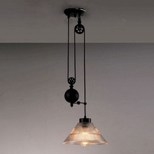 pulley lighting. new nordic loft style vintage pulley pendant light industrial lighting edison lamp for home deco fixtures l