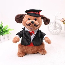 2018 Russian Accordion dog Singing Dancing Electronic pet dogs Action Figure Doll Stuffed & Plush Kids toy Gift For Children