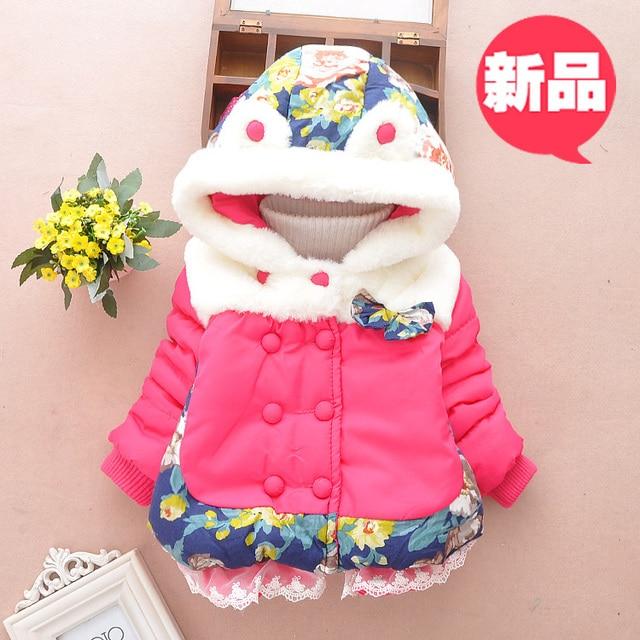 Niños niñas abrigo de invierno chaqueta gruesa 0 1 2 3