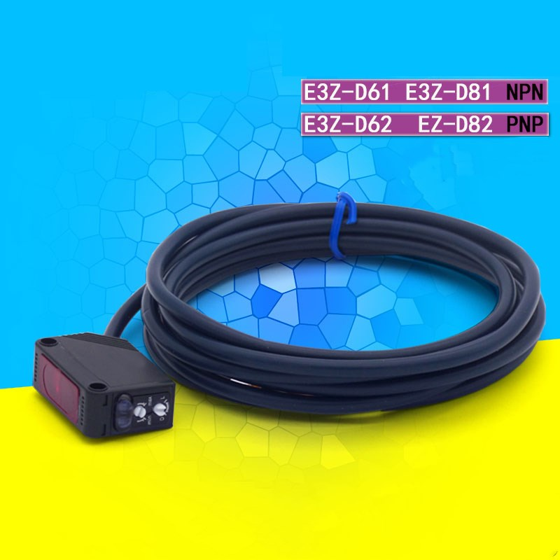 10PCS E3Z D61 Photoelectric Sensor Diffuse Reflective Photoelectric Switch with Built in Amplifier E3Z D62 E3Z