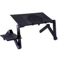 Portable Adjustable Laptop Stand Lapdesk Aluminum Desk Laptop Holder Bed Table For Ultrabook Netbook Tablet With Mouse Pad
