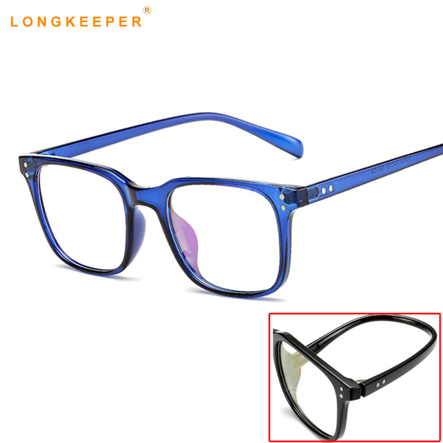 ea436fba2d06 2019 Women TR90 Glasses Frame Men Eyeglasses Frame Vintage Square Clear  Lens Glasses Optical Spectacle Frame Gafas
