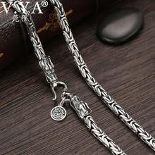 V.YA Collar de plata de ley 925 con cadenas para hombre, cadena gruesa con cierre de dragón, hecha a mano, joyería tailandesa