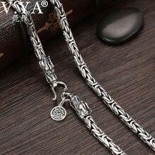 V. ya s925 correntes masculinas 925 prata esterlina colar men dragão fecho pesado grosso colar de corrente artesanal thai jóias de prata