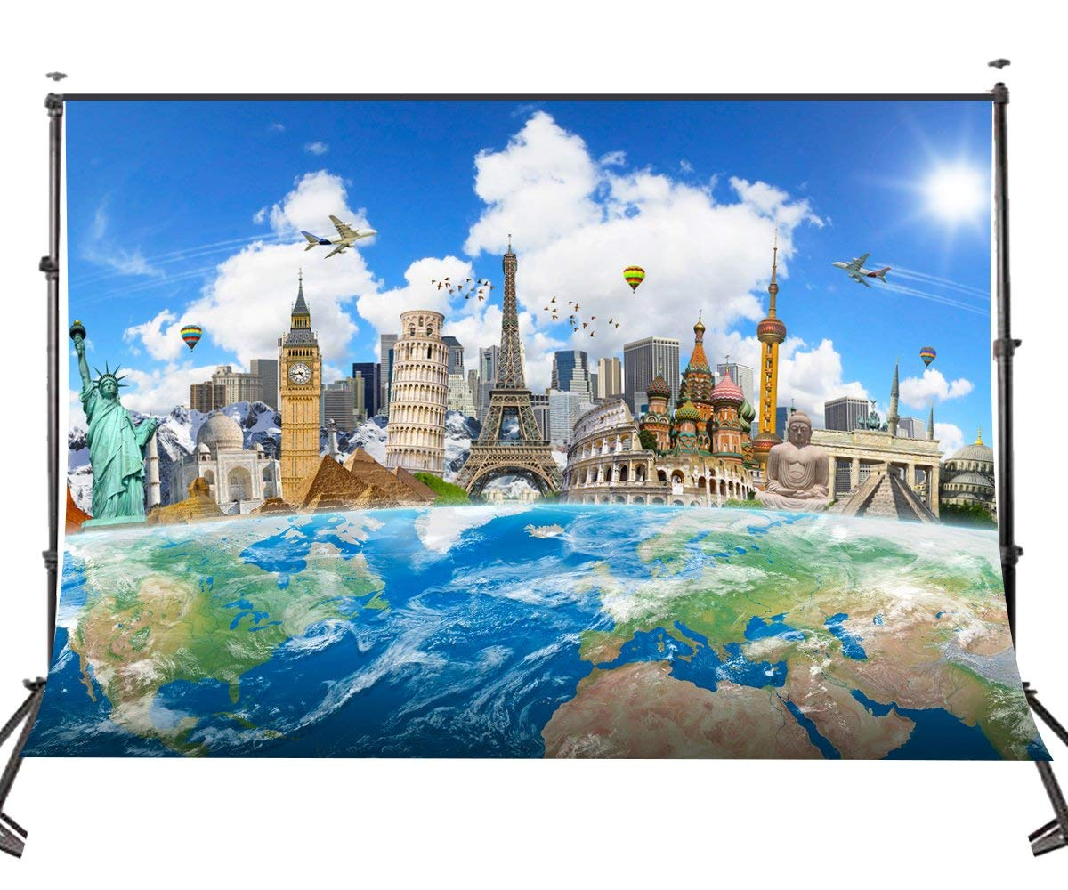 150x220cm World Famous Building Backdrop Architecture and Sculpture Photography Background