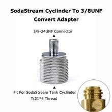 Nuovo SodaStream Cilindro Per 3/8 24UNF Convertire Adattatore Per Acquariofili Acquario Pesce o Homebrew Barilotto di Birra Co2 Regolatori Serbatoio