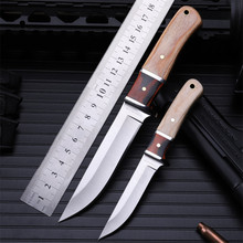 цены Outdoor self-defense field high hardness small straight knife wilderness survival the folding fruit knife cutter whitewood