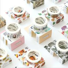 1.5CM Wide Succulent Plants Fashion Food Washi Tape Adhesive Tape DIY Scrapbooking Sticker Label Masking Tape