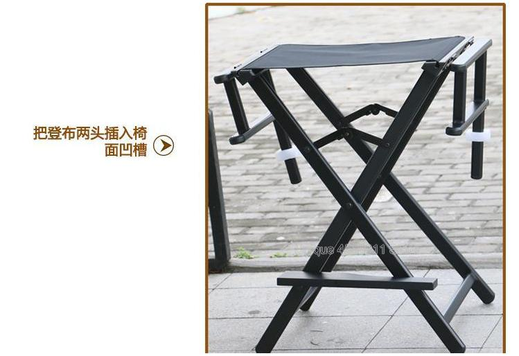 Director Chair Aluminum Lounge Chair Folding Outdoor Canvas Beach Chair Bar Office Makeup Chair