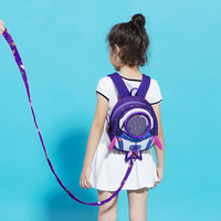 Toddler Baby Backpack 3D Cartoon Rocket Baby Bag Anti Lost Baby Harness Leashes Bracelet with Wings for 1/2/3 Year old Baby