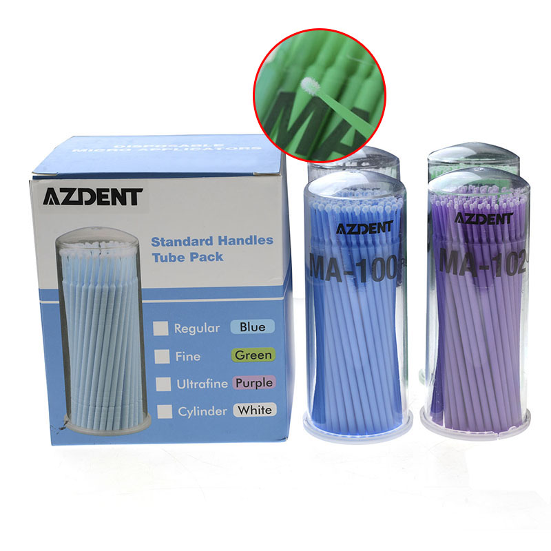 4 Boxes/Pack AZDENT Dental Micro Brush Disposable Material Applicators Orthodontic Products Dentist Denture Orthodontic Tools