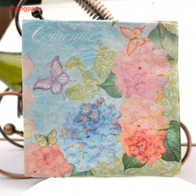 Butterfly Paper Napkin Festive & Party Tissue Decoration Guardanapo 33cm*33cm 20pcs/pack/lot