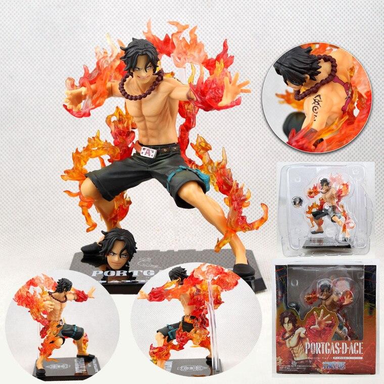 """¡Anime una pieza Portgas D. Ace batalla Ver! El puño de fuego Ace de PVC colección de figuras de acción modelo de juguete 6 """"14 cm"""