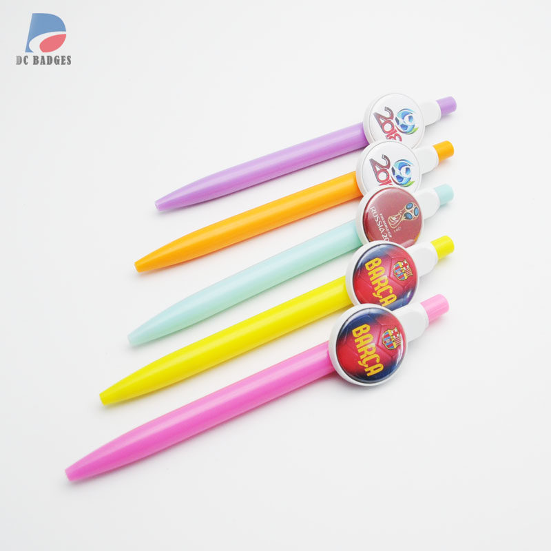 500sets of 1 25mm Ballpen Button Material blank pen without the football pictures