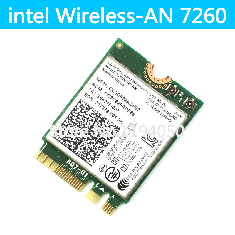 Dual Band Notebook Wlan NGFF Card For Intel Wireless N 7260 7260NGW AN  Intel 7260AN 300Mbps WIFI+Bluetooth 4 0 NGFF M 2-in Network Cards from  Computer