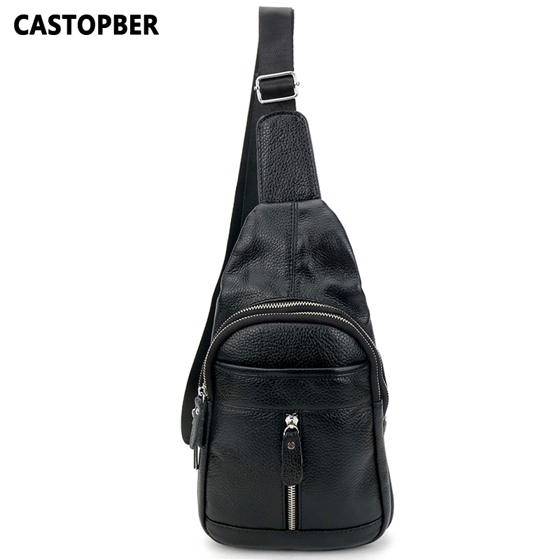 Designer Men Chest Pack Single Shoulder Strap Back Bags Genuine Cowhide Leather Travel Mens Crossbody Bags Vintage Rucksack Bag
