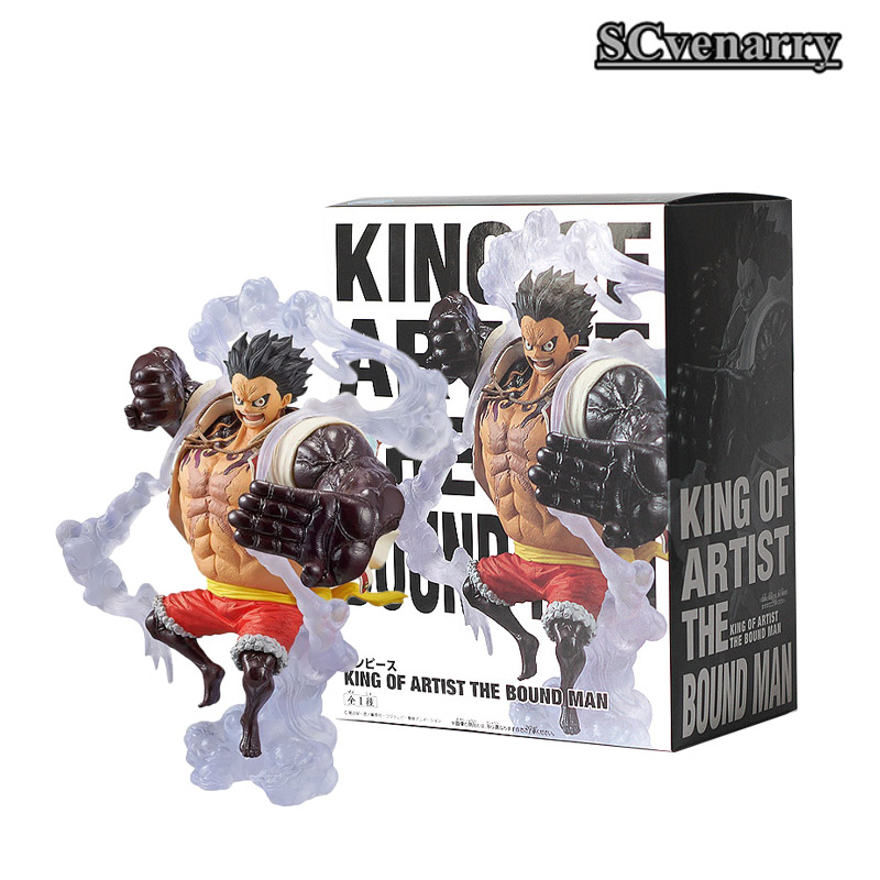 One Piece King Of Artist Luffy Statue The Bound Man Pvc Monkey D Luffy Figure Collectible Model Toy 18cm Action & Toy Figures