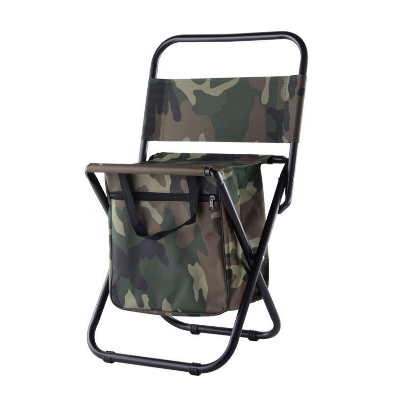 Camouflage Foldable Chair Fishing Bags 600D Polyester+X Frame Steel Pipe Load 100kg Fishing Chair Integrated Outdoor Fishing Bag camouflage outdoor fishing chairs bag foldable 600d oxford peva waterproof layer cool fishing bag multifunctional sport backpack