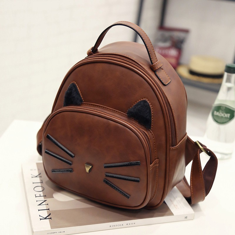 Kawaii Cat Ear Backpack Black Preppy Style School Backpacks For Teenage Girls College Style Casual Backpack Sac Mochilas on Sale (18)