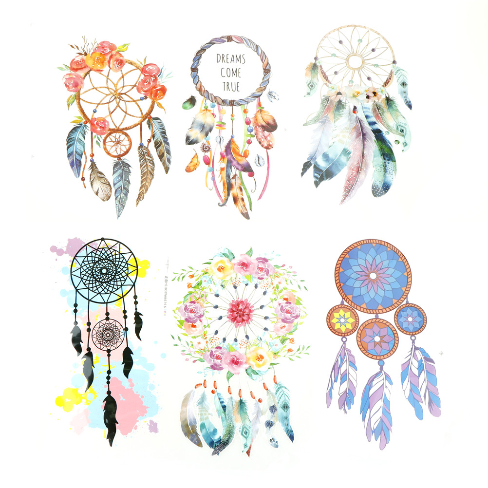 Beautiful Garland Feathers Dreamcatcher Iron On Patch T-shirt Sweater Thermal Transfer Paper Patches For Clothing New Design