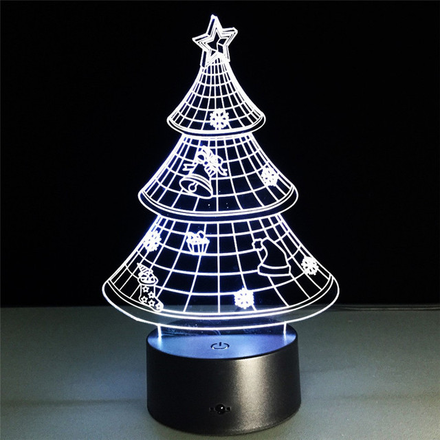 3d christmas tree led night light 7 color changing night lamp nice christmas gift toy for
