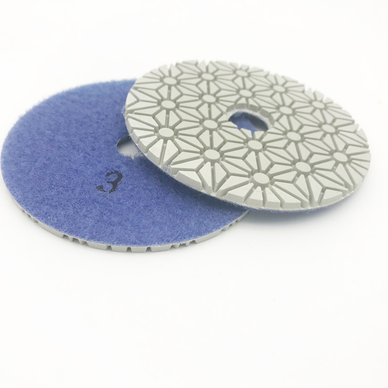 4 mm 100 mm Diametru umed / uscat Garnituri de lustruire 3 STEP Set - Instrumente abrazive - Fotografie 4